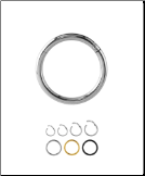 316L Surgical Steel Hinged Septum Clicker Choose Your Color & Size 16G