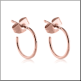 Rose Gold PVD Coated 316L Surgical Steel Hoop Earrings