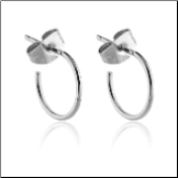 316L Surgical Steel Hoop Earrings