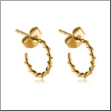 Gold PVD Coated 316L Surgical Steel Wire Wrapped Hoop Earrings