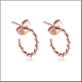 Rose Gold PVD Coated 316L Surgical Steel Wire Wrapped Hoop Earrings