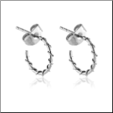 316L Surgical Steel Wire Wrapped Hoop Earrings