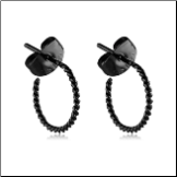 Black PVD Coated 316L Surgical Steel Twisted Hoop Earrings