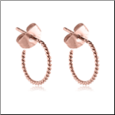 Rose Gold PVD Coated 316L Surgical Steel Twisted Hoop Earrings