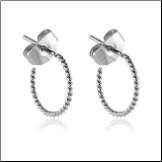 316L Surgical Steel Twisted Hoop Earrings