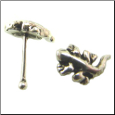 925 Sterling Silver Nose Bone 5mm Gecko 5.5mm Post 22G