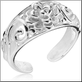 925 Sterling Silver Toe Ring Flower