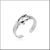 925 Sterling Silver Dolphin Toe Ring