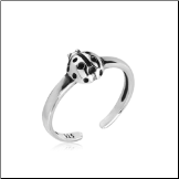 925 Sterling Silver Ladybug Toe Ring