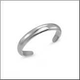 10KT Solid White Gold Band Toe Ring