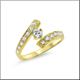10KT Yellow Gold Toe Ring CZ Band
