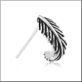 925 Sterling Silver Nose Stud Nose Hugger Feather Design - Choose Your Style & Gauge