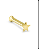 10KT Gold Nose Bone Gold Star 2mm
