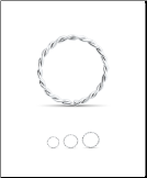 14KT White Gold Seamless Twisted Nose Ring