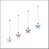 **BLOW OUT SALE** Maternity Pregnancy Navel Ring Bioflex Butterfly 14G