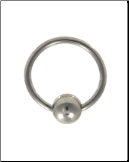 "**BLOW OUT SALE** 316L Surgical Steel Captive Bead Nose Ring Hoop Septum 9/32"" 18G"