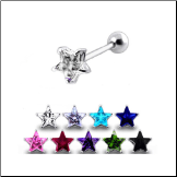 **BLOW OUT SALE** 316L Surgical Steel Ear Cartilage Ring Helix Tragus Piercing 11mm Star 17G