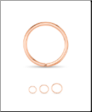 14KT Rose Gold Seamless Hoop Nose Ring