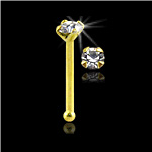 **BLOW OUT SALE** 10KT Gold Nose Bone 1.8mm CZ