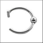 "316L Surgical Steel Fake Nose Hoop Ring Captive Bead 3/8""- 9.5mm"