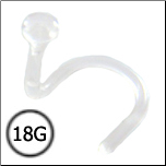 Nose Screw Retainer Bioflex 18G