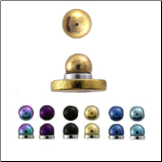**BLOW OUT SALE** Anodised Steel Magnetic Stud Monroe, Labret, Nose, Ear - Choose Your Color