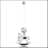**BLOW OUT SALE** Maternity Pregnancy Navel Ring Rocking Horse 14G