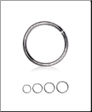 **BLOW OUT SALE** Surgical Steel Hinged Septum Clicker Choose Your Size 16G