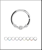 925 Sterling Silver Nose Ring Tragus Daith Helix Ear Cartilage Septum Hoop 18G