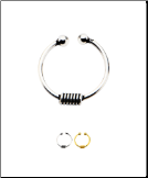 925 Sterling Silver Fake Septum Clicker Hanger Clip On Nose Ring Hoop Rope - Choose Your Color