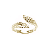 10KT Yellow Gold Feather Toe Ring