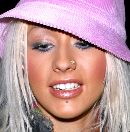 Flower Nose Ring Worn By Christina Aguilera