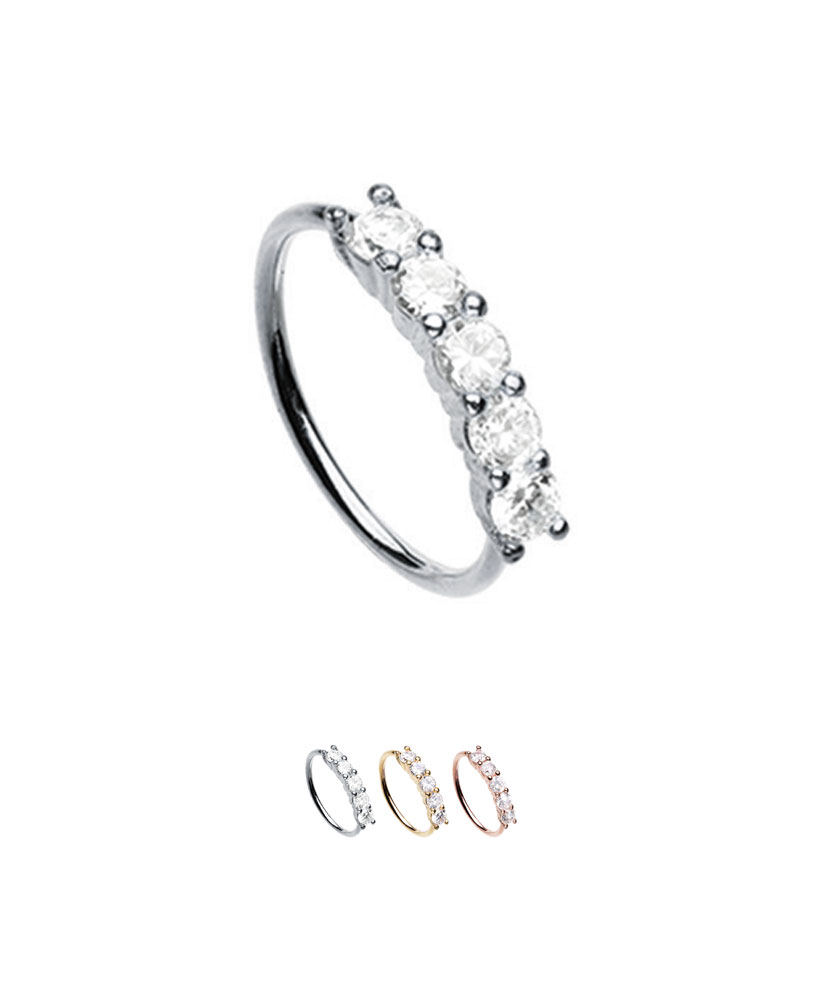 14-20g Surgical Steel Multi Color CBR Body Piercing Hoops Plain or CZ Gemmed Balls Forbidden Body Jewelry Super Value 5-Pack