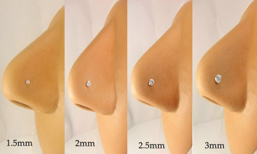 Nose Jewelry Size Chart Gauges And Sizes For Nose Rings
