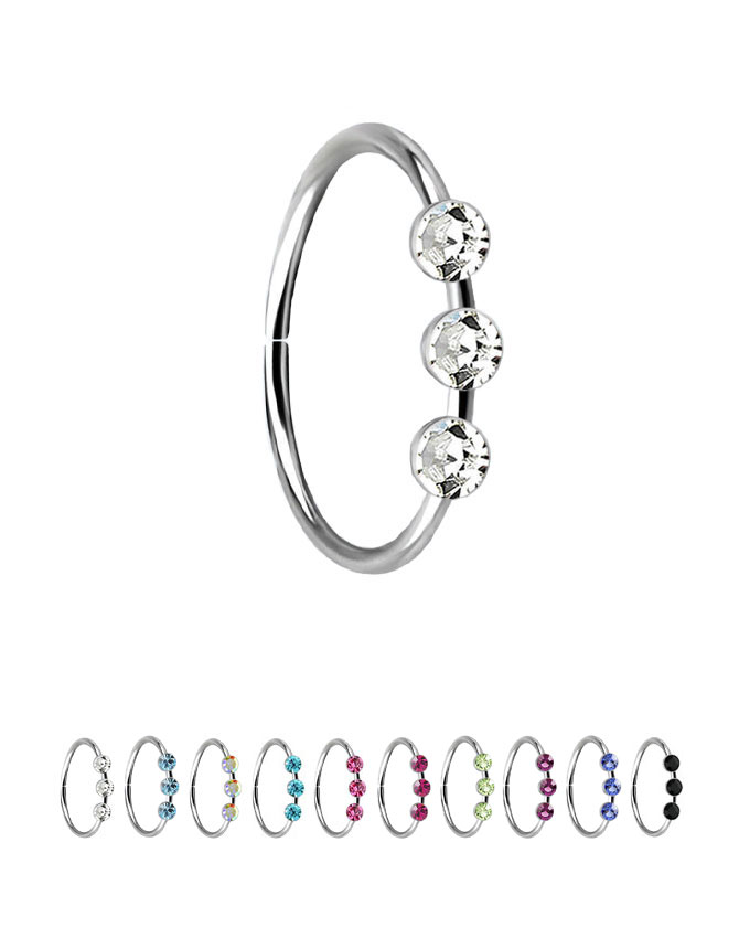 f4f6aedfd We have added new colors to our 925 Sterling Silver, 3 stone hoop.