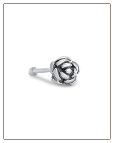 925 Sterling Silver Nose Bone Silver Rose