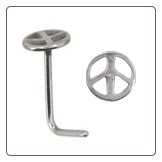 **BLOW OUT SALE** 316L Surgical Steel L Bend Peace Sign 20G