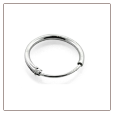 "Nose Ring 925 Sterling Silver 1/4"" 22G"