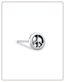 **BLOW OUT SALE** 925 Sterling Silver Nose Stud Straight, Bone, or L Bend Peace Sign 22G
