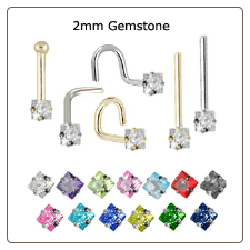 Custom Design Your 2mm Square Nose Jewelry