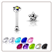 925 Sterling Silver Nose Bone 2mm 5 Clawed Star