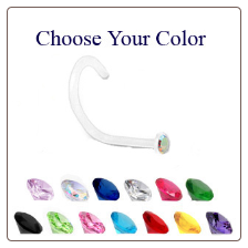 Bio-Flex Micro Nose Screw -Choose Your Color 1mm Gem 20G