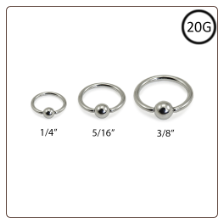Annealed Nose Ring Hoop Captive Surgical Steel Choose Size 20G