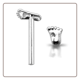 **BLOW OUT SALE** 925 Sterling Silver Nose Stud Straight or L Bend 3.5mm Foot