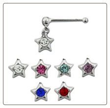 925 Sterling Silver Nose Bone 3.5mm Star