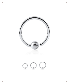 14KT White Gold Fixed Captive Bead Nose Ring