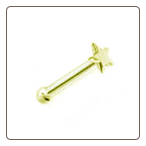 **BLOW OUT SALE** 14KT Gold Nose Bone Star 20G