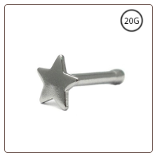 316L Surgical Steel Nose Bone 3mm Star 20G