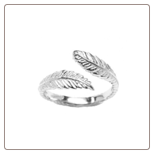 10KT White Gold Feather Toe Ring