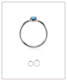 925 Sterling Silver Nose Ring Tragus Daith Helix Ear Cartilage Septum Hoop 20G